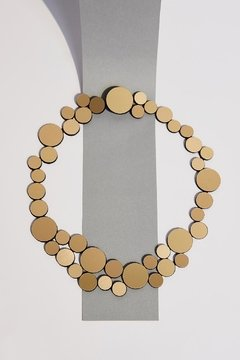 New In! Collar Abstraction Small Metallics - En Cuero y Acrílico Metalizado - Joyería Contemporánea by Iskin Sisters - Iskin Sisters