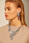 New In! Collar Abstraction V Metallics - En Cuero y Acrílico Metalizado - Joyería Contemporánea by Iskin Sisters