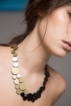 New In! Collar Abstraction Small Metallics - En Cuero y Acrílico Metalizado - Joyería Contemporánea by Iskin Sisters