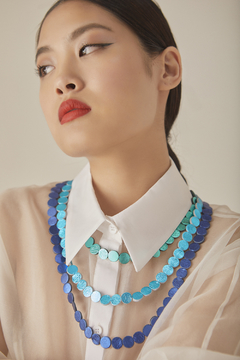 Collar Pearl Short - En Cuero - Cool Colors