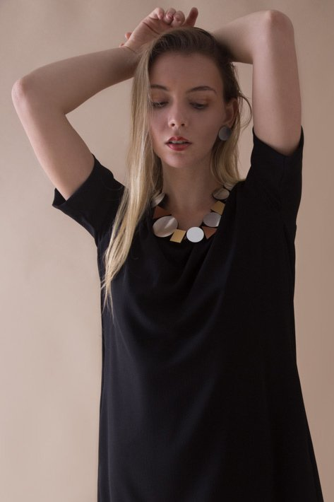 New In! Collar Kaia Geometric - En Acrílico Metalizado - Joyería Contemporánea by Iskin Sisters