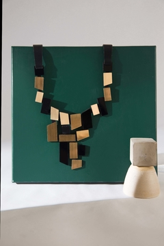NEW IN! Piet V Necklace Black & Gold  - Iskin Sisters - Joyería Contemporánea - Accesorios de Diseño - comprar online