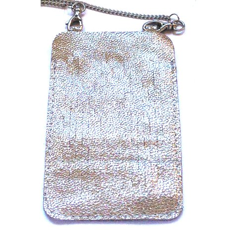 Mini Cartera Porta Celular Madison con Trama - Iphone 5 & 6 - Smartphone - Cuero y cadena