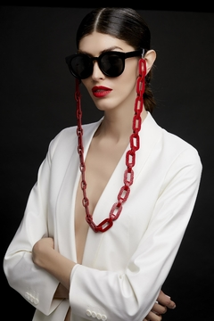 Cadenas para Gafas Rainbow Chain - for Eyeglasses - Rojo & Nude