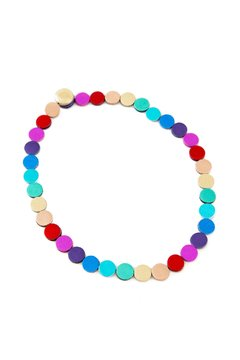 Collar Rainbow Circles en internet
