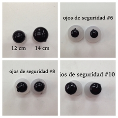 Ojos de seguridad color negro - PACK DE 10 PARES