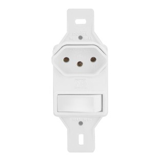 1 Interruptor Simples + 1 Tomada 10A - Perlex Pumalux - 2281/11