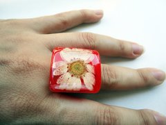 Anillo Flower Power- Rojo en internet
