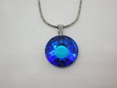 Dije Circle of Light Azul + cadena- Swarovski en internet