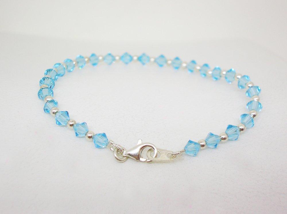2cc57c5ff9b4 Pulsera cristal Swarovski y plata - Aquamarine