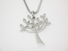 Collar Happy Tree - dije y cadena-- Acero - comprar online