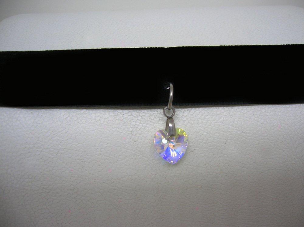 34316c3f49b2 choker collar mujer moda corazon cristal swarovski