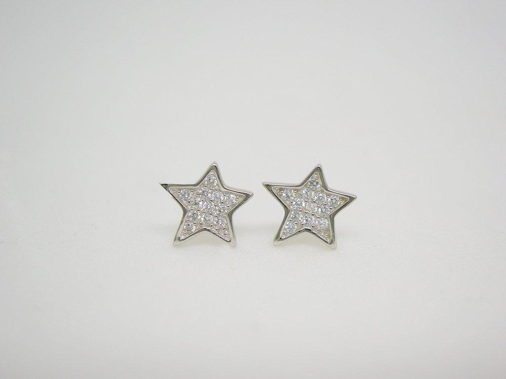 369ff9b4582f aros plata mujer estrellas