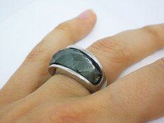 Anillo Nirvana Medium  Grey - Acero