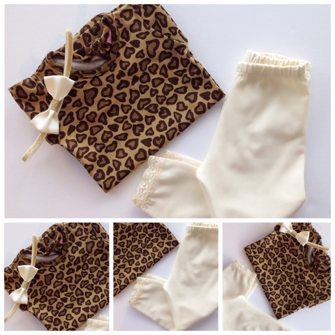 KIT MINI LEGGINS MOÑO ANIMAL PRINT LOVE