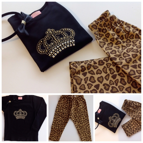 kit Leggins nenas Animal Print Love - comprar online