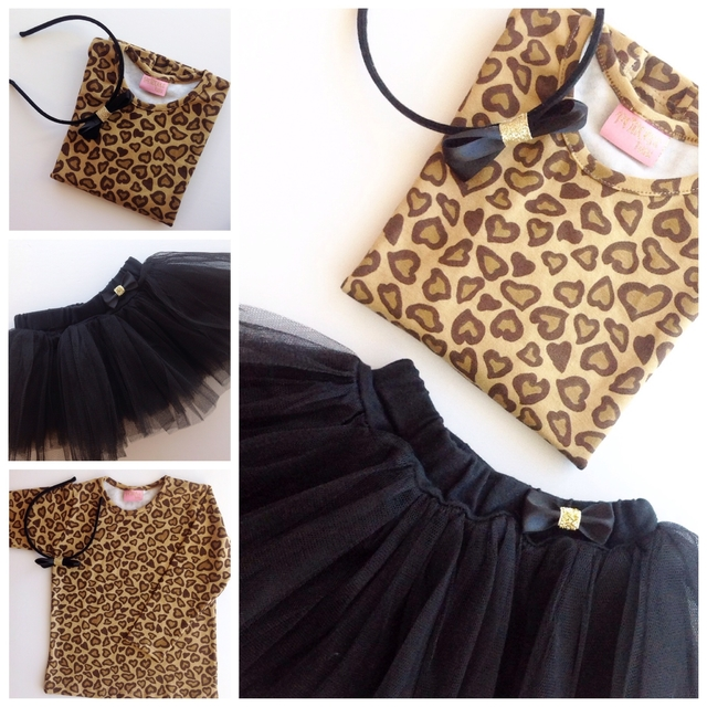 kit Tutu nenas Animal Print Love - Princess tutu
