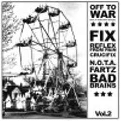 V/A - Off to war, compilation of rare singles - Comp LP com: Bad Brains, NOTA, Crucifix, Fartz, etc. ( Original )