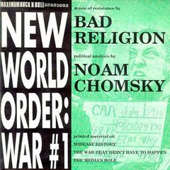 BAD RELIGION / NOAM CHOMSKY - new world order: war #1 - EP