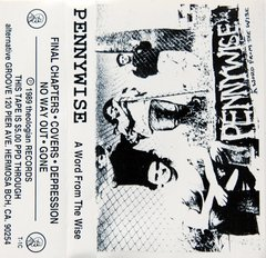 PENNYWISE - wild card / a word from the wise - Tape ( Promo tape rarissima da Theologian Records - 1989 / 1992 )