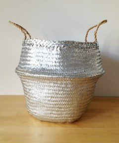 Seagrass Basket Gold & Silver 40D