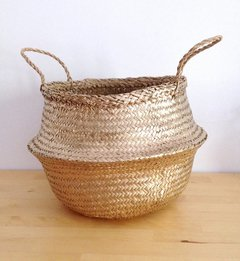 Seagrass Basket Gold & Silver 35D
