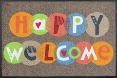 Capacho lava e seca Wash+Dry Design - Happy Welcome