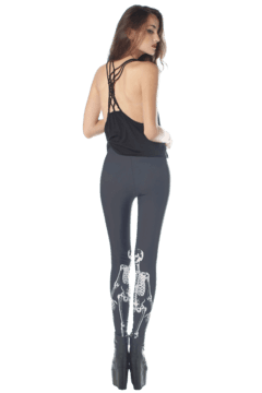 Black Skulls Leggings