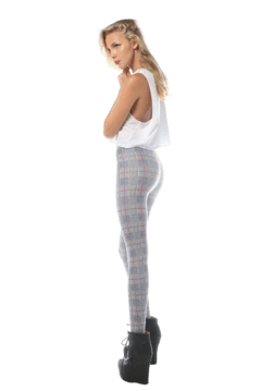 Grey Tartan Leggings