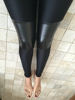 Leather Pacth Leggings