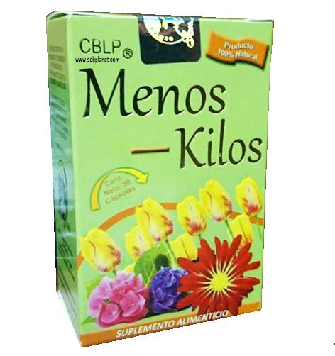 MENOS KILOS, 30 CÁPSULAS, SUPLEMENTO ALIMENTICIO