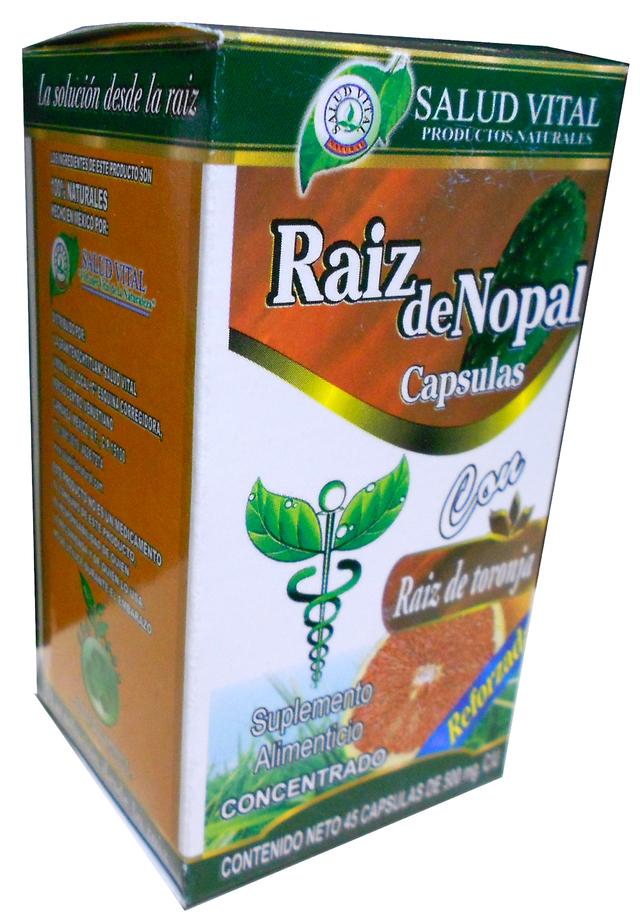 RAIZ DE NOPAL, 45 CAPSULAS - Comprar en Mundo Natural