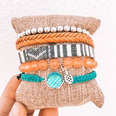 Mix de pulseiras orange