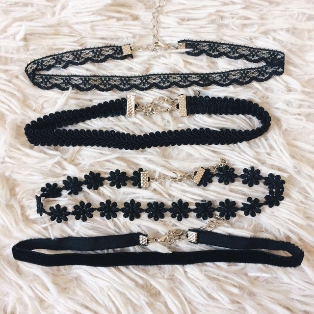 Kit 4 Chokers Delicate