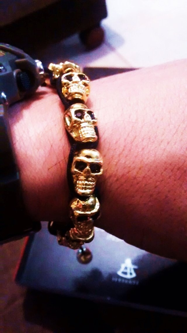 Northskull Gold & Clear Swarovski Crystal Skull