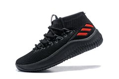 Tênis adidas Dame 4 Black Dark Red Importado