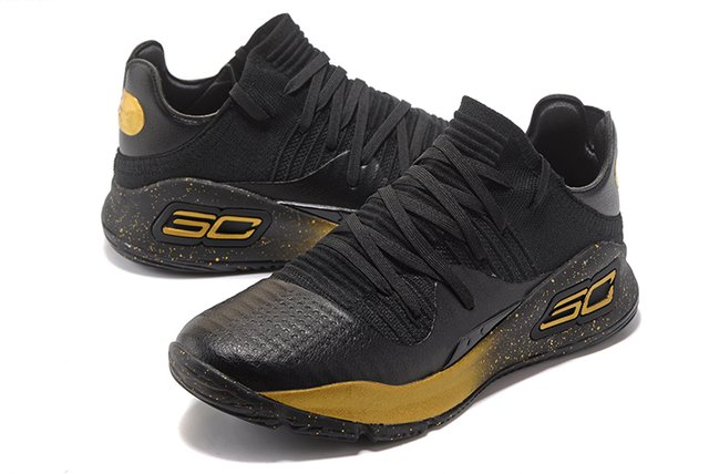 Tênis Under Armour Curry 4 Low Black and Gold IMPORTADO - PRIME IMPORTADOS