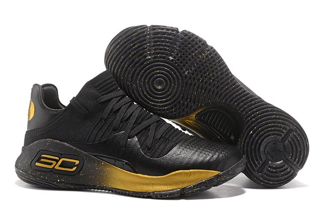 Tênis Under Armour Curry 4 Low Black and Gold IMPORTADO - loja online