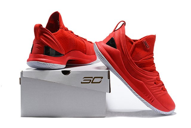 Tênis Under Armour Curry 5 Low All Red Basketball - PRIME IMPORTADOS