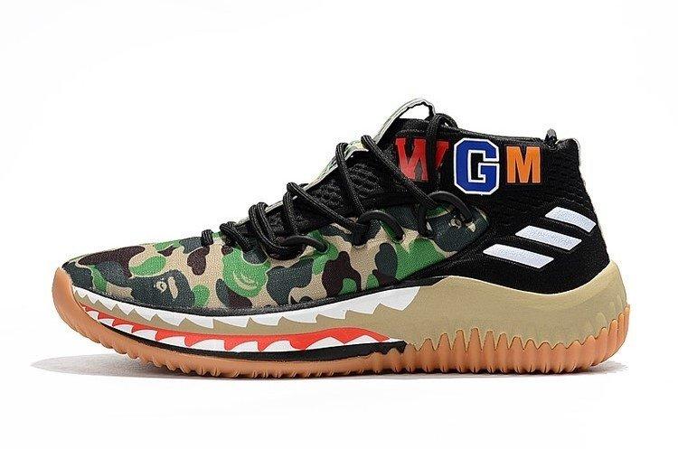 new products c67a1 565cc Tênis adidas Dame 4 Bape Camo Sneaker Damian Lillard Importado Original. 1