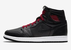"Imagem do Air Jordan 1 Retro High OG ""Black Satin"""