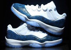 "Air Jordan 11 Low ""Navy Snakeskin"""