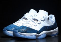 "Air Jordan 11 Low ""Navy Snakeskin"" - loja online"