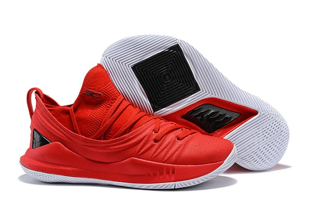 Tênis Under Armour Curry 5 Low All Red Basketball - loja online