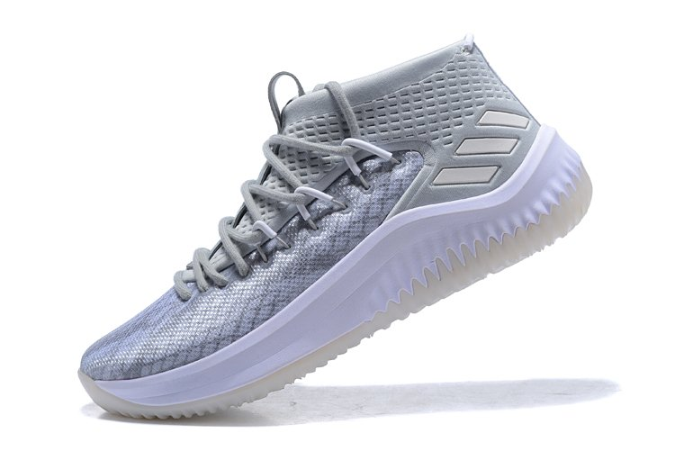 best loved 2f3ff 183e0 Tênis adidas Dame 4 Grey white Importado