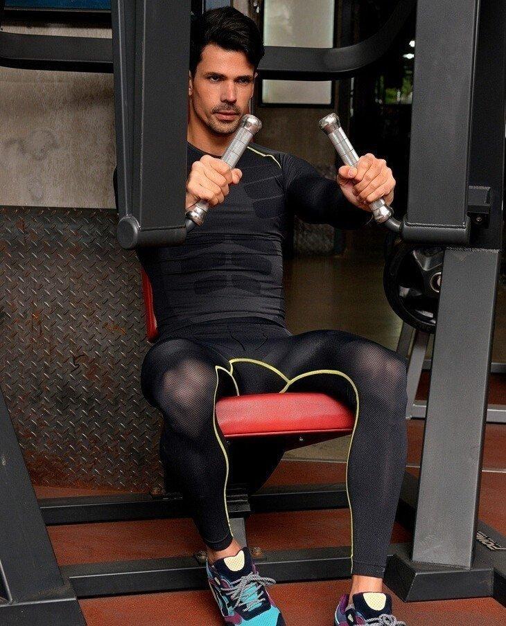 d0ad5334185fc KIT Calça Masculina Legging + Camisa Running Fitness Térmica Compressão  Importada