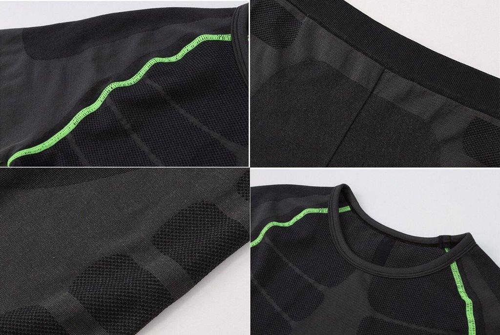 eb0e10b9b5 KIT Calça Masculina Legging + Camisa Running Fitness Térmica Compressão  Importada