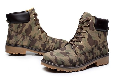 Bota Casual SWAG Hip Hop Estilo Timber Importada Camuflada