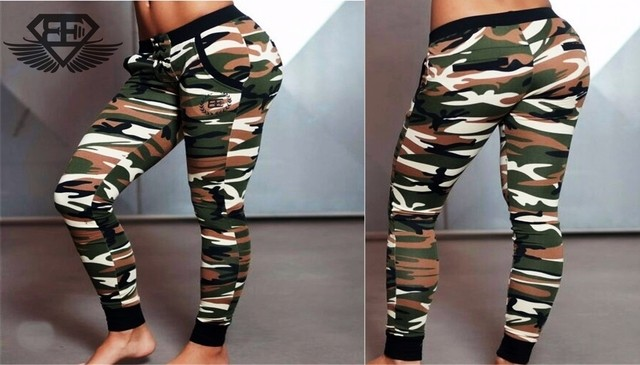 Calça Moleton Feminina Body Engineers Camuflada Original Importada