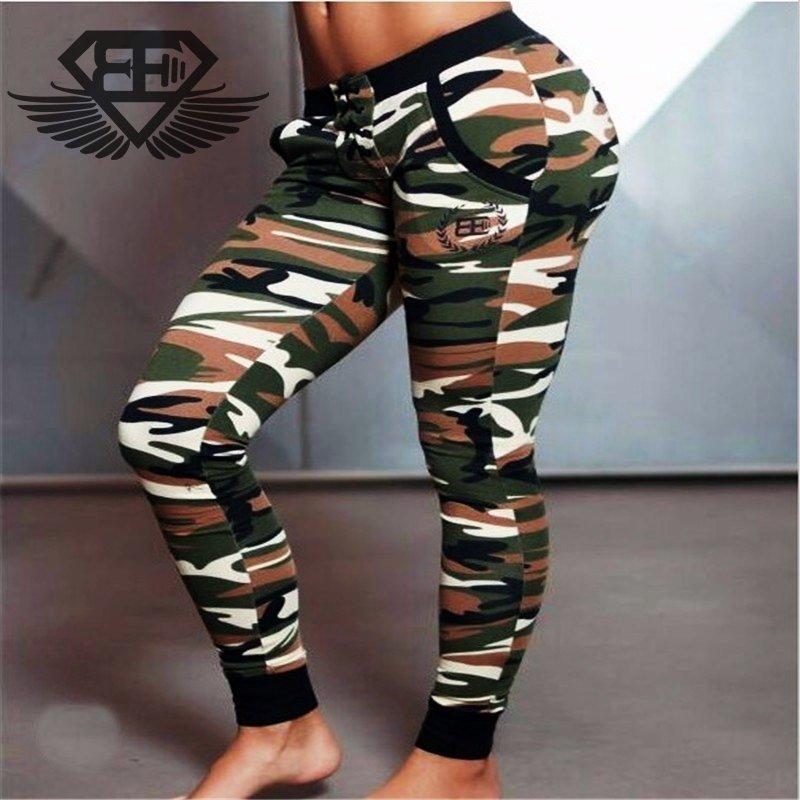 2210e7023 Calça Moleton Feminina Body Engineers Camuflada Original Importada